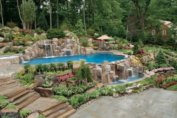 saddle river nj award winning infinity edge inground swimming pool natural design 600x400 Award Winning Pools & Landscaping