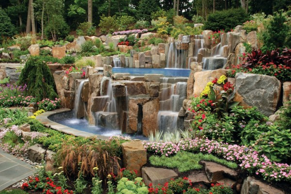 saddle river nj award winning natural waterfall swimming pool 600x400 Award Winning Pools & Landscaping