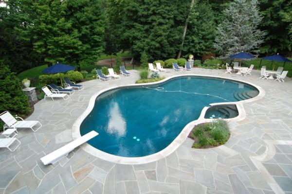 saddle river nj pool renovation free form design 600x400 Custom Swimming Pool Renovations