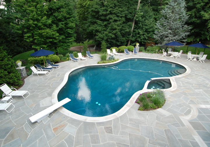 upper saddle river nj saddle river nj pool renovation custom design 600x400 custom swimming pool renovations - Swimming Pool Designers