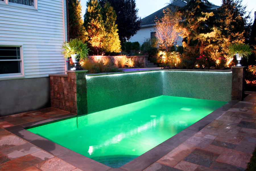 2013 best pool design award indoor outdoor swimming pool for Small garden pool designs