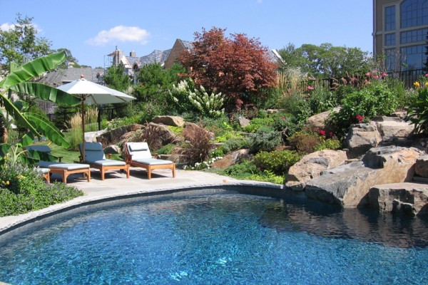 Swimming Pool Garden Design NJ 600x400 Landscaping U0026 Gardens