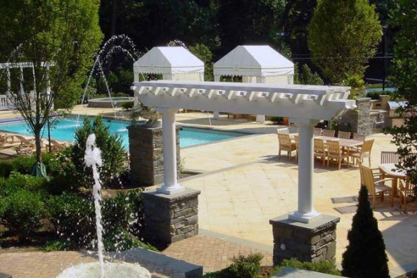 swimming pool outdoor space landscape piers 600x400 Masonry  Stone Patios & Walls