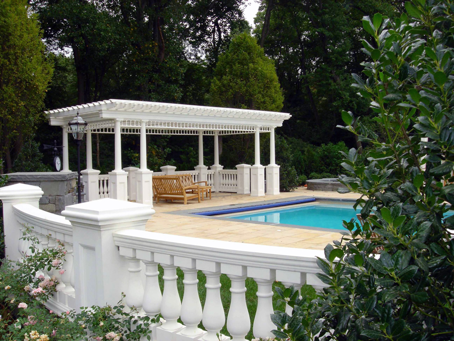 Cabana pergola gazebo design nj landscape architecture for Pool design hamilton nj