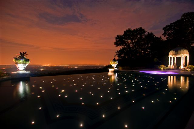 swimming pool star lighting fiber optics NJ Landscape Design Company
