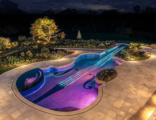 Westchester NY-Glass Tile Pool & Spa