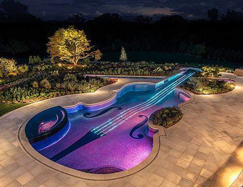 Westchester NY Glass Tile Pool U0026 Spa