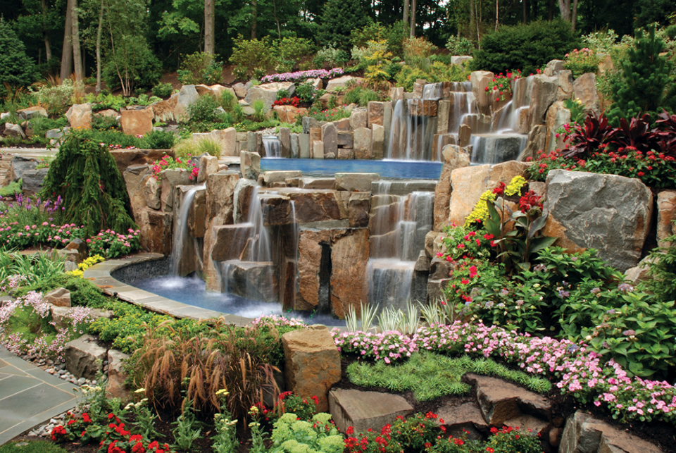 Pool Designs Nj pool waterfalls design mahwah nj cipriano landscape design and custom swimming pools Beautiful Landscaping Gardens Cipriano Landscape Design Nj