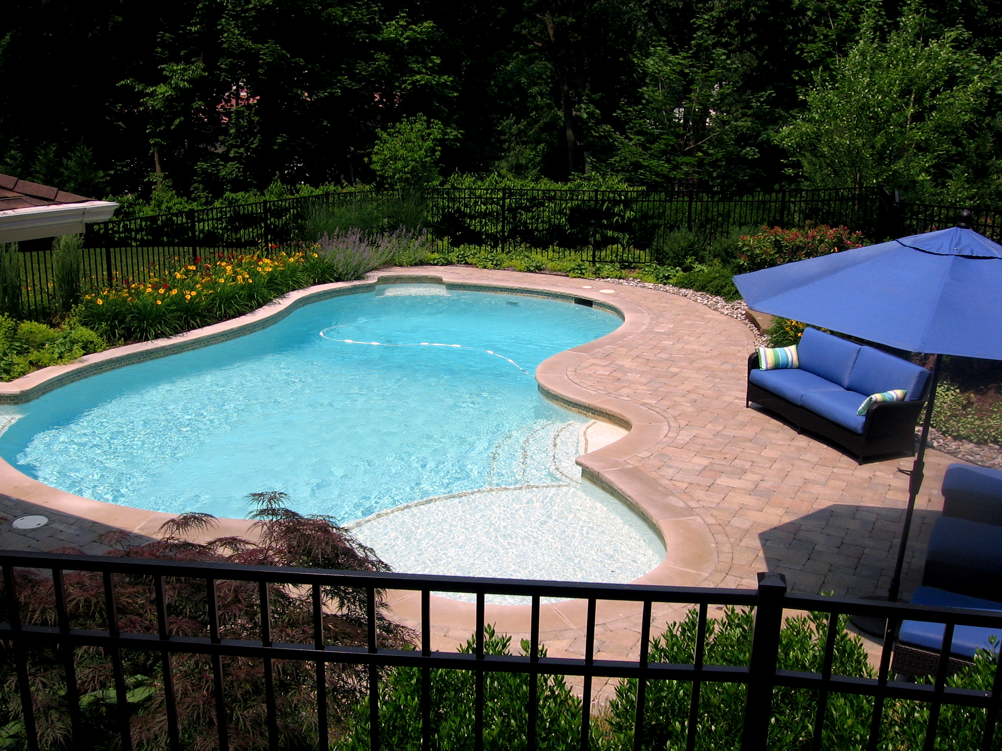 Inground pools archives cipriano landscape design and for Custom swimming pools