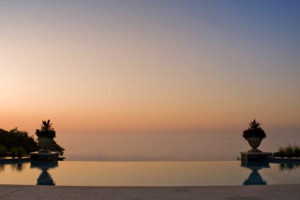 Kinnelon-NJ-Fiber-Optic-Negative-Edge-Pool-Ciasulli-Evening-Sunset-View