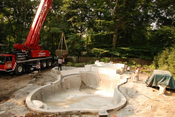allendale nj inground swimming pool construction allendale nj 600x400 Tropical Backyard Waterfalls   Allendale NJ