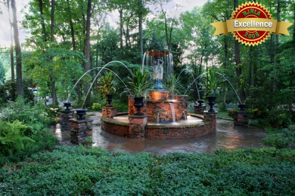 brick fountain stone fountain 600x400 Award Winning Pools & Landscaping