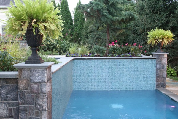 completed-Glass-tile-inground pool-builders-construction