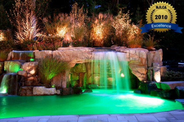 custom pools with waterfalls 600x400 Award Winning Pools & Landscaping