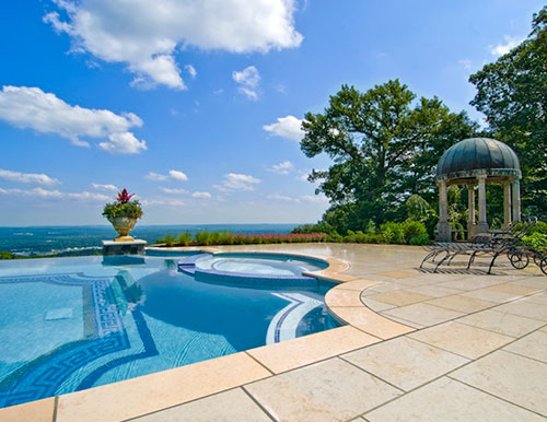 2016 best custom swimming pools cipriano landscape design nj - Infinity edge swimming pool ...
