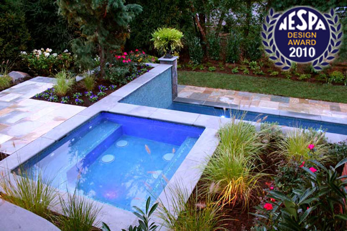 Award winning pool landscaping 2013 best design winner for Pool design services