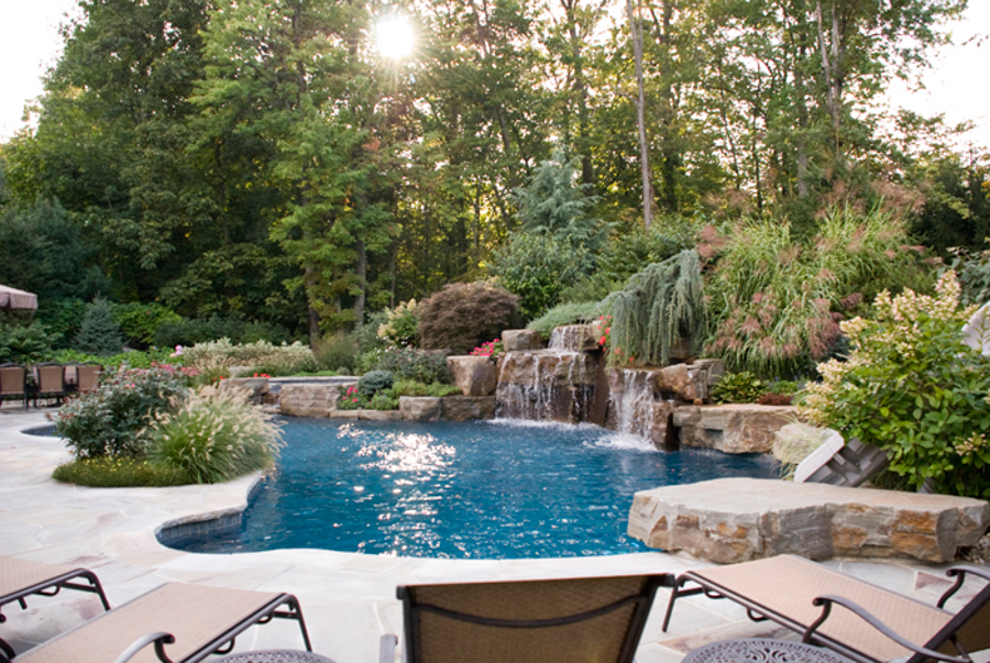 Inground Pools With Waterfalls outdoor-pool-waterfall -design-ideas-nj | cipriano landscape