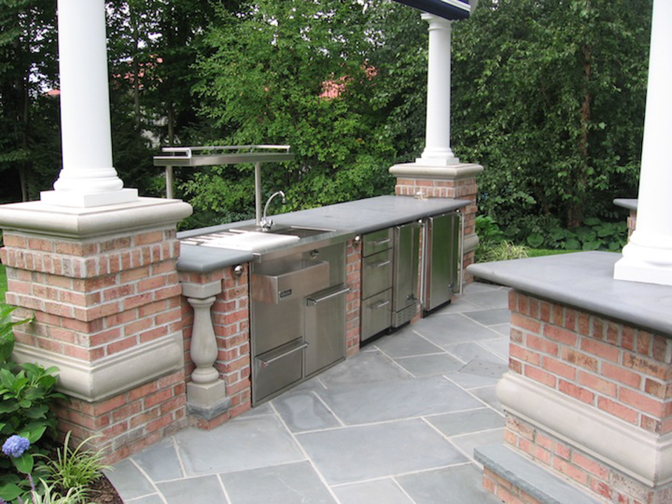 Outdoor Kitchen Bar Design Saddle River Nj Cipriano