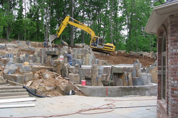 stone-waterfalls-inground-pool-builder-construction