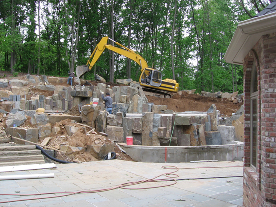 Inground Pools With Waterfalls stone-waterfalls-inground-pool-builder-construction | cipriano