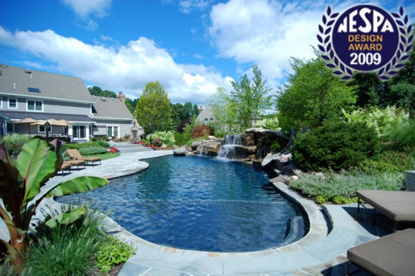 swimming pool slide swimming pool 600x400 Award Winning Pools & Landscaping