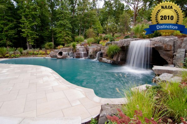 swimming pool waterfall pools 600x400 Award Winning Pools & Landscaping