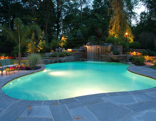Tropical Backyard Waterfalls – Allendale NJ