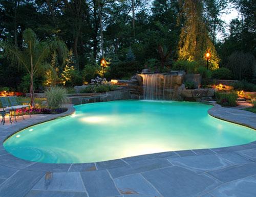 Tropical Backyard Waterfalls – Allendale NJ