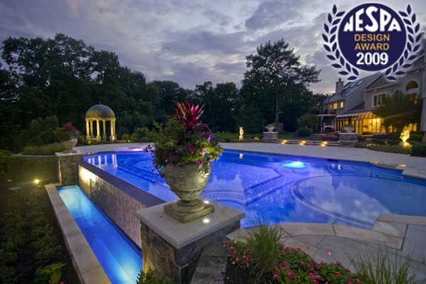 vanishing edge pool infinity pool 600x400 Award Winning Pools & Landscaping