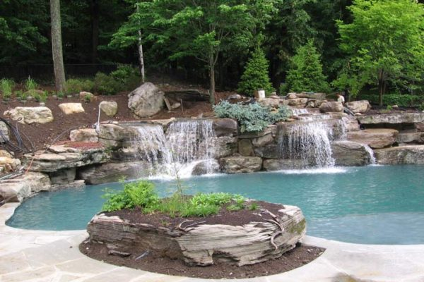 Pool-Waterfalls-Design- Mahwah NJ-Lahonde-Wide-View