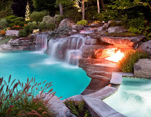 Pool Waterfalls Design- Mahwah NJ