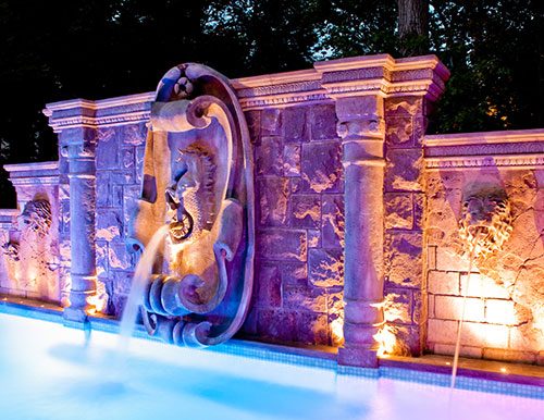 custom stone masonry pool Projects