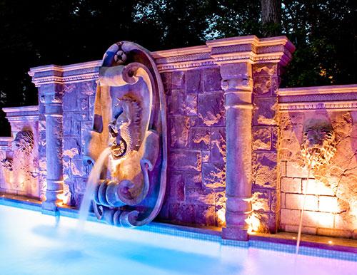 All Glass Tile Pool & Fountain -Ridgewood NJ