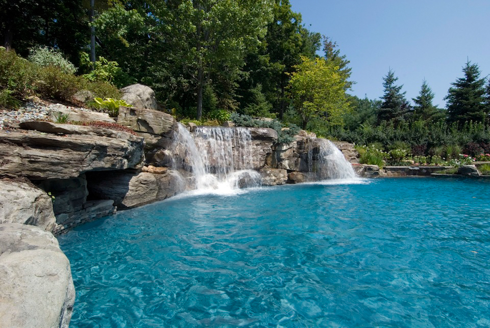 pool waterfalls design mahwah nj cipriano landscape design and custom swimming pools