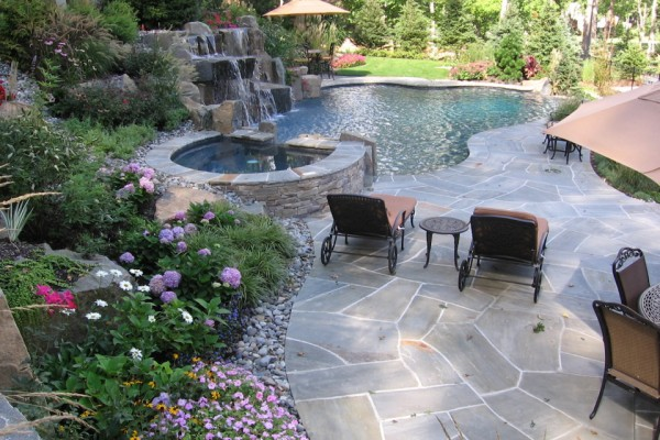 infinity edge pool- saddle river, nj. | cipriano landscape design ... - Pool And Patio Designs