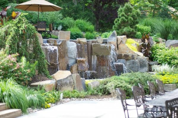 saddle river nj natural waterfall design inground infinity pool 600x400 Infinity Edge Pool  Saddle River, NJ.