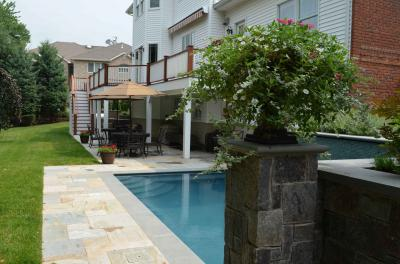 make the most of your backyard patio landscaping design and turn your walkout basement into a luxury outdoor living room wyckoff nj