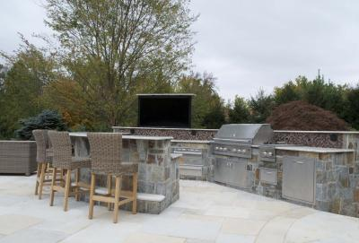 01381516540y outdoor kitchen design with 60 inch TV on lift  Bergen County NJ 2 NEW OUTDOOR LIVING/KITCHEN DESIGN INNOVATIONS   BERGEN COUNTY NJ