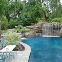 Swimming Pool Waterfall Designs conteporary fountain and pool slide swimming pool fountain 01397676529waterfall Design Northern Nj Project 2 200x200 How To Avoid Dreadful Pool Waterfall Designs Bergen County