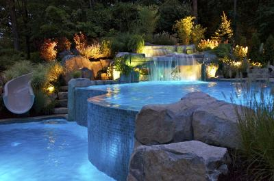 01401966705waterfall design bergen county northern NJ 2 WHY ADD WATERFALLS TO YOUR SWIMMING POOL DESIGN?