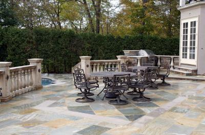 11399665827gian Buff Terraced Patio With Limestone Inlay Design Installation NJ 2 HAVE AN OLD DECK? TERRACED PATIOS OFFER STYLE & A GREAT ROI   BERGEN COUNT NJ