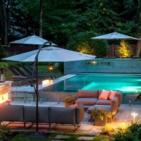 Modern landscape designs make most of small backyards for Pool design help