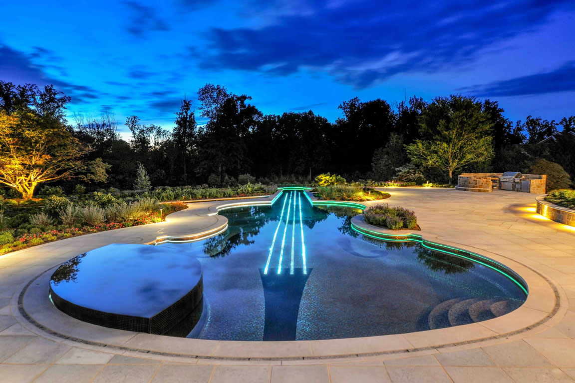 Landscape Glass Tile Swimming Pool