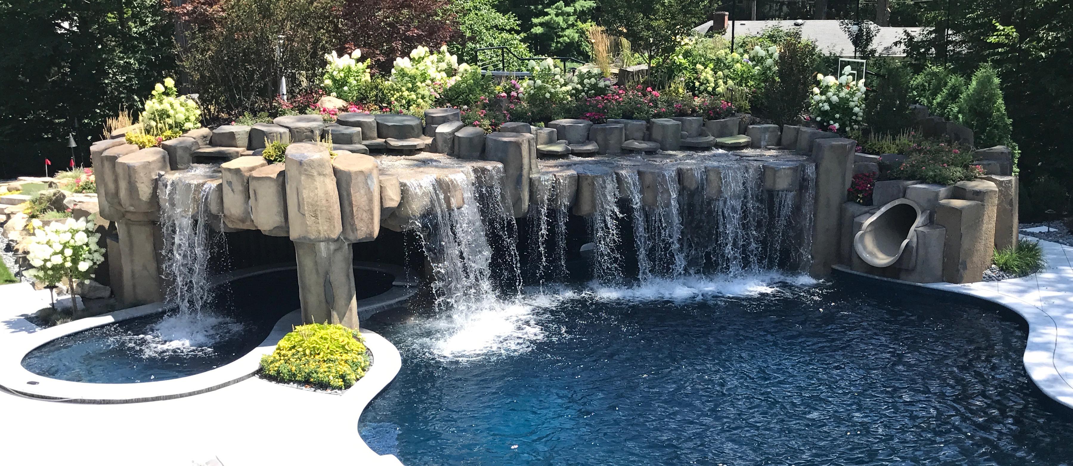 Custom Waterfall Fountains Design